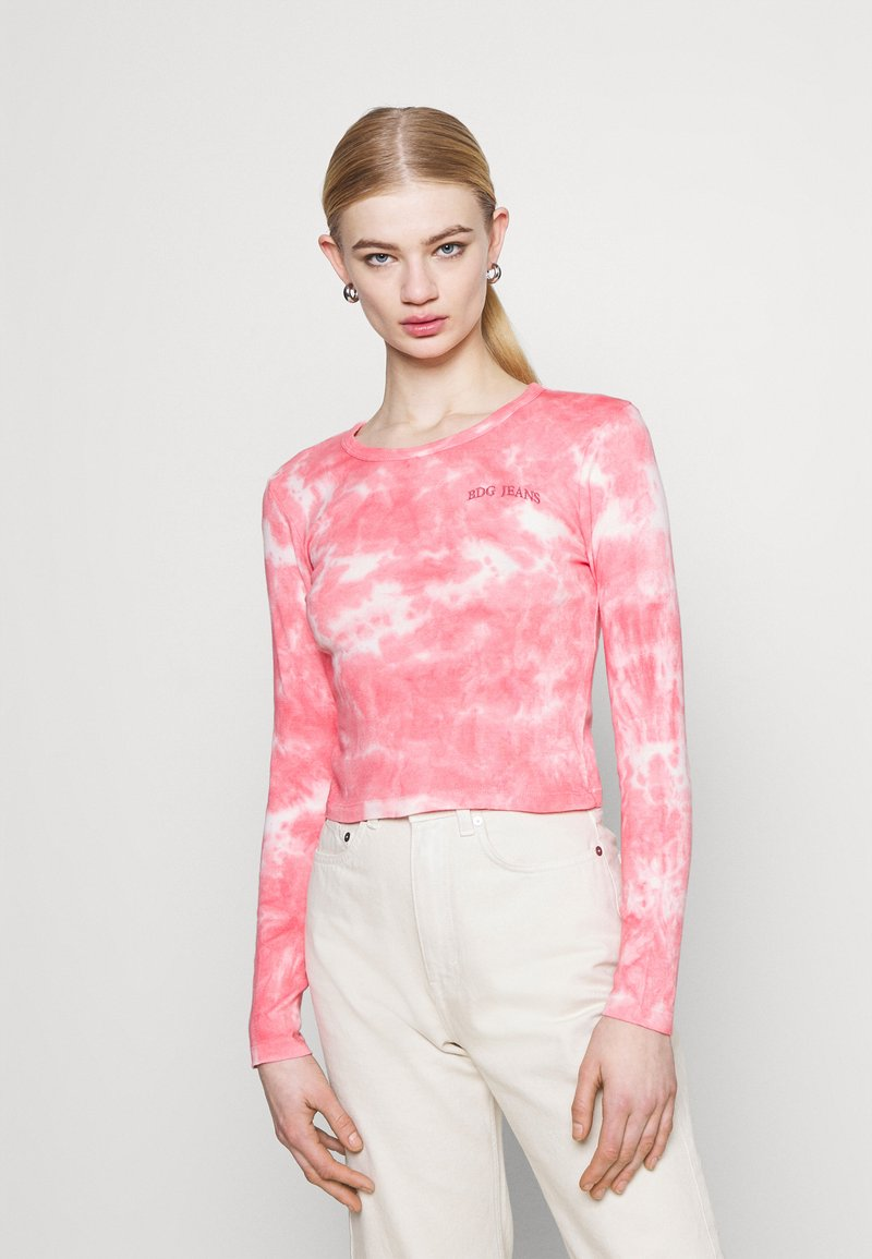 BDG Urban Outfitters - TIE DYE BABY TEE - Top sdlouhým rukávem - pink