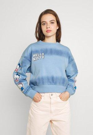 TIE DYE CROP - Sweatshirt - blue