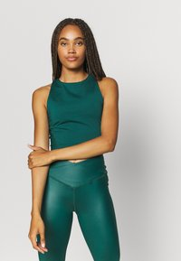 South Beach - SHINE LONGLINE MUSCLE BACK TOP - Toppe - deep green - 0