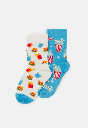 KIDS POPCORN HAMBURGER SOCK UNISEX - Ponožky - multicolor