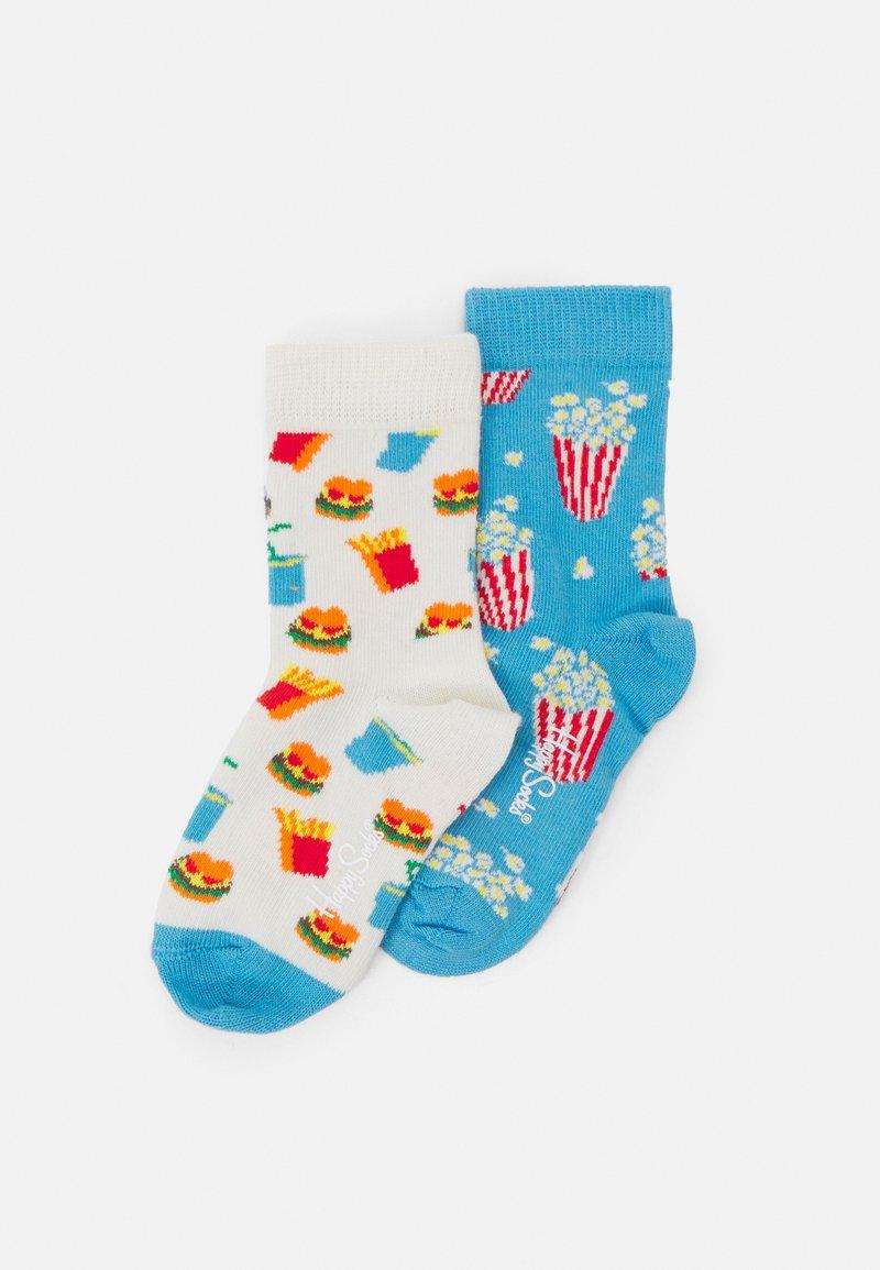 Happy Socks - KIDS POPCORN HAMBURGER SOCK UNISEX - Ponožky - multicolor