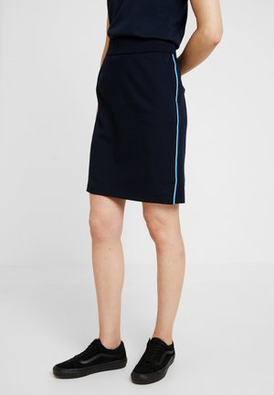 SKIRT ELASTIC WAISTBAND - A-line skirt - midnight blue