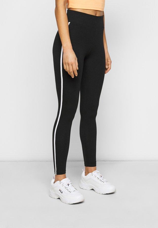 SIDE STRIPE LEGGING - Leggings - Trousers - black