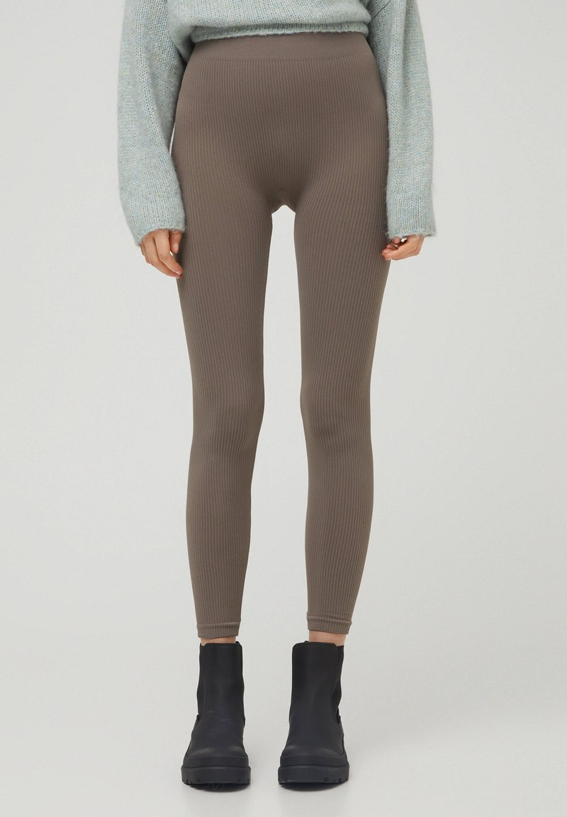 PULL&BEAR - Leggings - grey