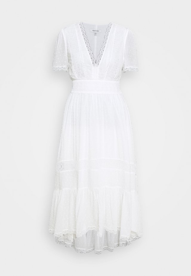 MARGOT SPLICED MIDI DRESS - Robe d'été - white