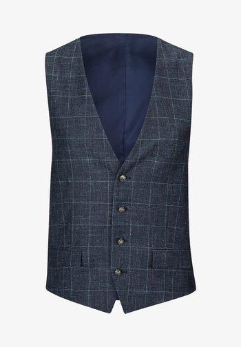 GYL - Suit waistcoat - dunkelblau kariert
