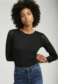NAF NAF - SHIRT  - Long sleeved top - black - 0