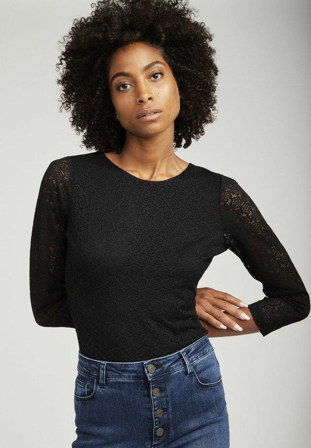 SHIRT  - Bluzka z długim rękawem - black