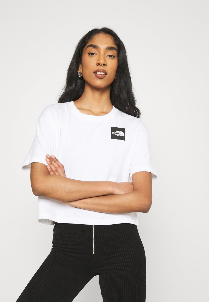 The North Face - CROPPED FINE TEE - T-shirt imprimé - white