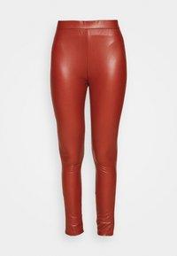 TOM TAILOR DENIM - Leggings - Trousers - rust orange - 3