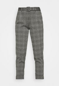 Marks & Spencer London - BELTED TROUSER - Pantalones chinos - grey - 4