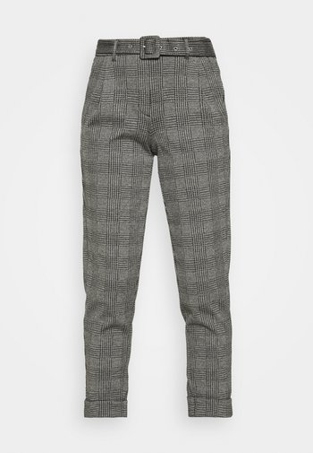 BELTED TROUSER - Chinos - grey