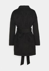 Missguided - DROP SHOULDER BELTED CROP FORMAL - Trenchcoat - black - 1