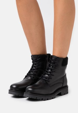 BIADIYA LACED WARM BOOT - Winter boots - black