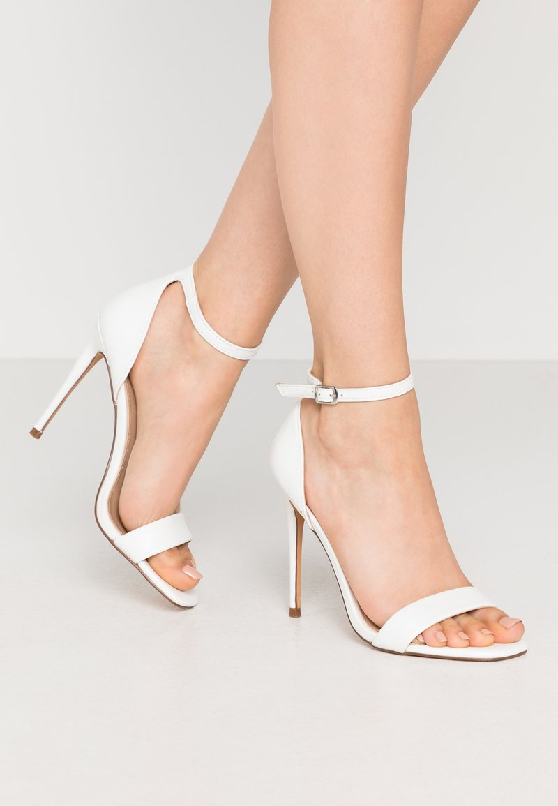 Steve Madden - REEVES - High heeled sandals - white