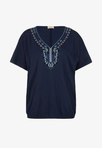navy embroidery