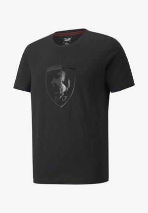 SCUDERIA FERRARI RACE BIG SHIELD - T-shirt med print - puma black
