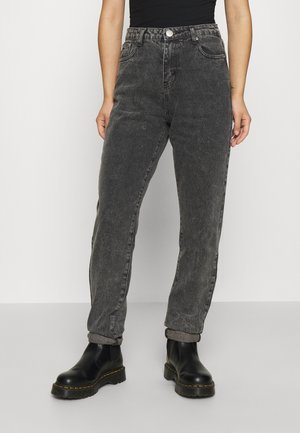LEAH MOM - Relaxed fit jeans - washed black
