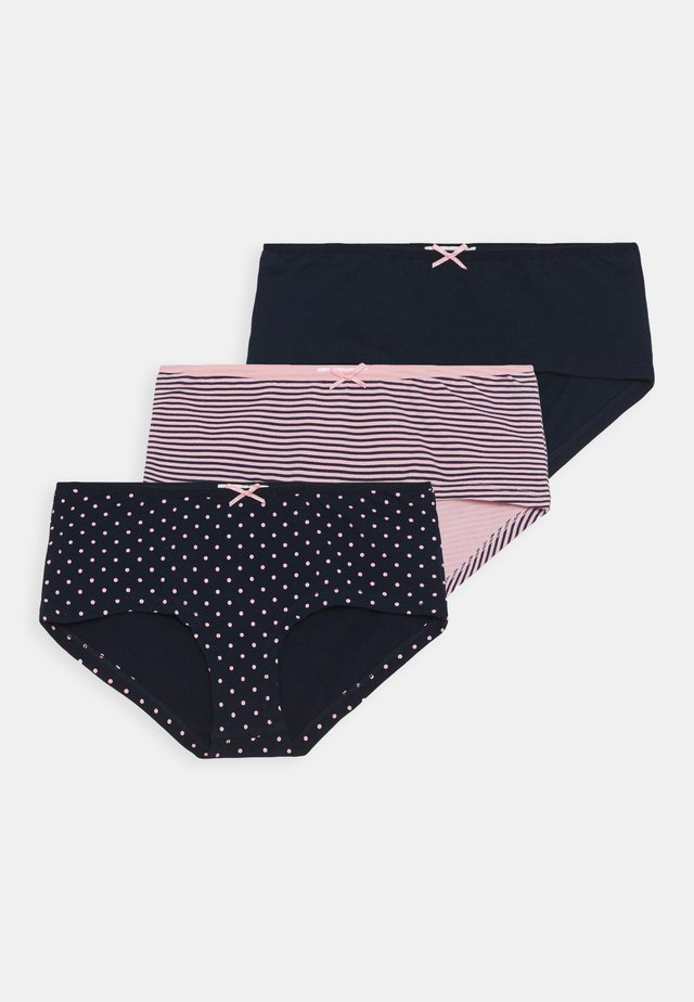 PANTY 3 PACK - Pants - dark blue/rose