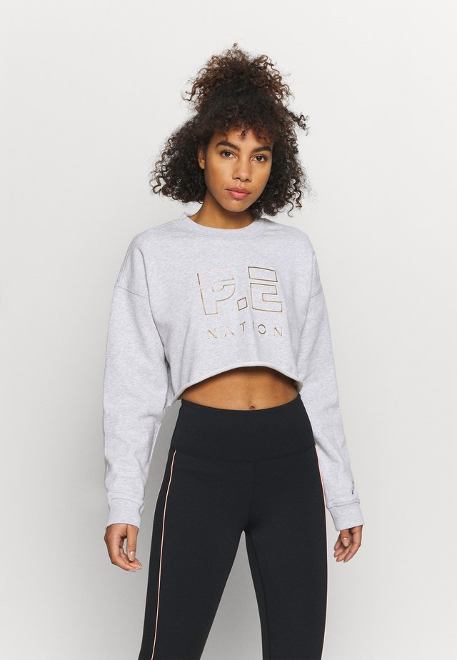 HEADS UP METALLIC CROPPED - Felpa - grey marl