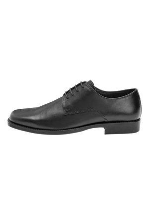 BLACK SQUARE TOE DERBY SHOES - Zapatos con cordones - black