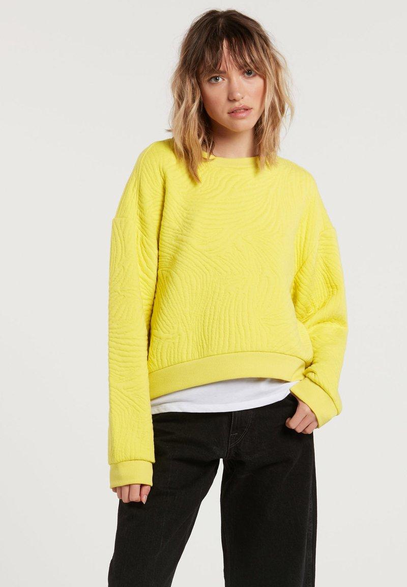 Volcom - QUILTY CREW - Fleece jumper - citron
