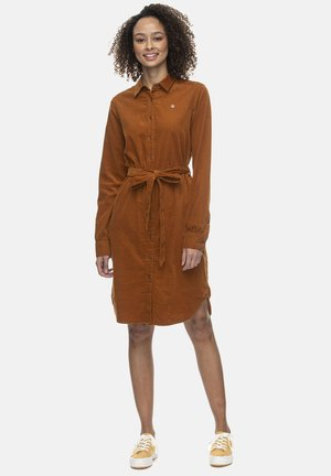 Shirt dress - pumpkin