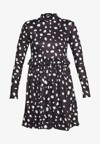 Missguided Tall - DALMATION FRILL WAIST DRESS - Day dress - black - 4