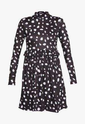 DALMATION FRILL WAIST DRESS - Vestido informal - black