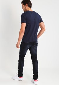 G-Star - 3301 SLIM - Slim fit jeans - siro black stretch denim