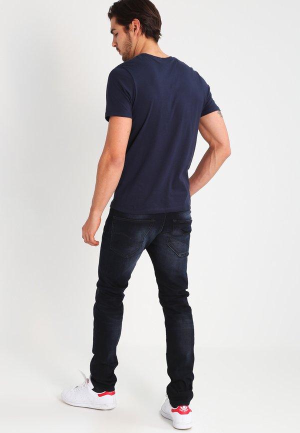 G-Star 3301 SLIM - Jeansy Slim Fit - siro black stretch denim/czarny denim Odzież Męska NDLR