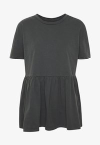 ONLY - ONLALLIE  LONG TEE - T-shirts - black - 4