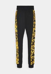 Versace Jeans Couture - PRINT LOGO BAROQUE - Teplákové kalhoty - black - 7