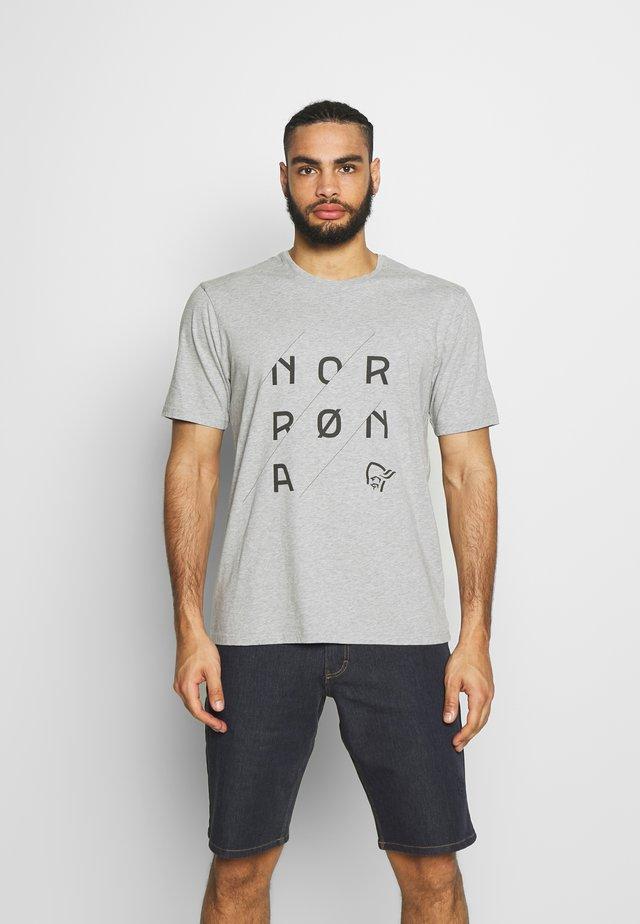 SLANT LOGO - T-shirts med print - grey melange