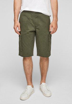 BERMUDES - Denim shorts - olive