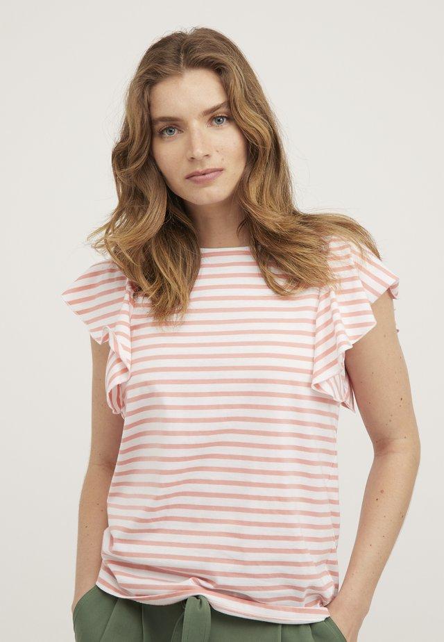 FRILL  - Print T-shirt - pink