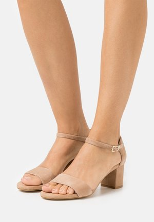 LEATHER COMFORT - Sandalias - beige