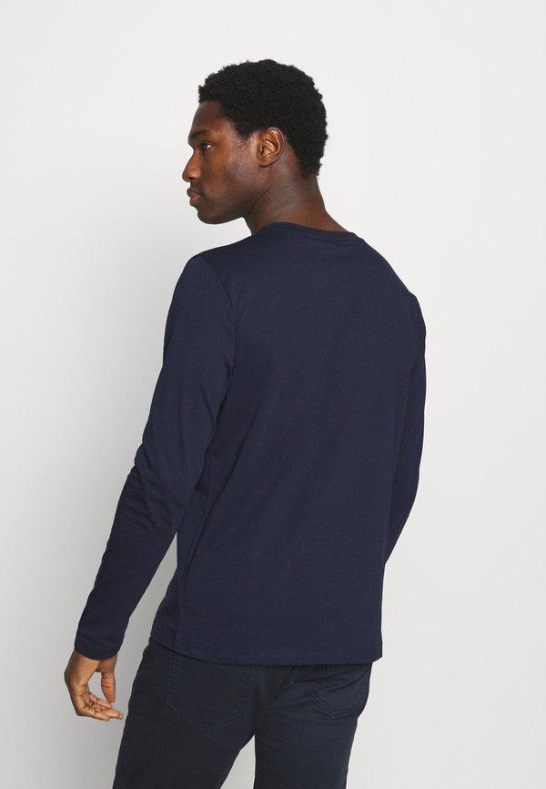 GANT LOCK UP - Bluzka z długim rękawem - evening blue/granatowy Odzież Męska UROM