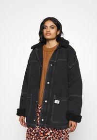 BDG Urban Outfitters - DYLAN DONKEY JACKET - Džínová bunda - black - 0