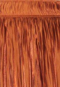 comma - A-line skirt - cognac - 2