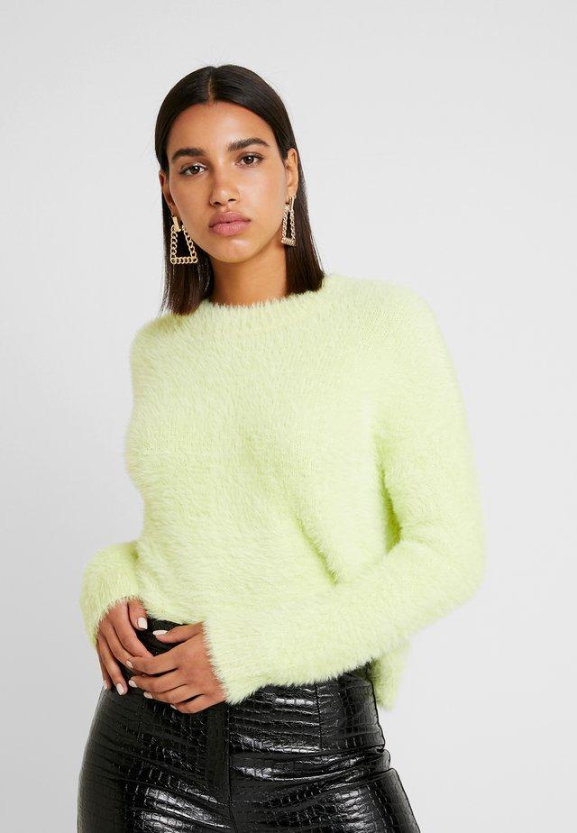 EYELASH CREWNECK - Pullover - lime