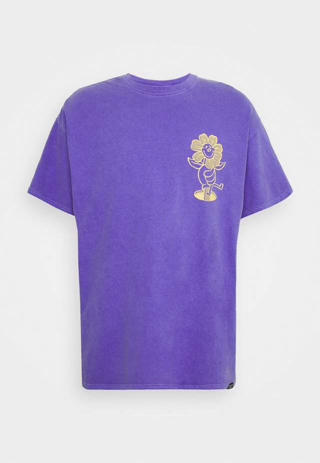 DAISY PRINT TEE UNISEX - T-shirt print - purple