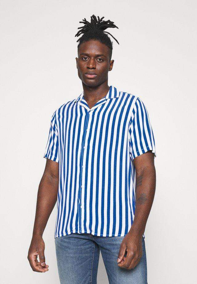 NEW CUBA - Camisa - navy/white