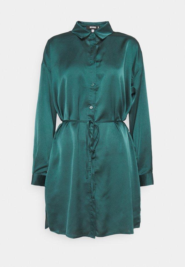 SELF TIE DRESS - Korte jurk - teal