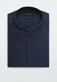 Massimo Dutti - SLIM-FIT-HEMD AUS REINEM LEINEN MIT MAOKRAGEN 00101301 - Shirt - blue-black denim - 3