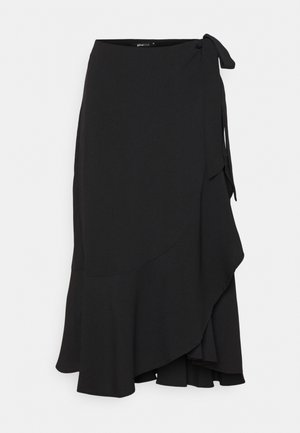 FRANIE WRAP SKIRT - Wrap skirt - black