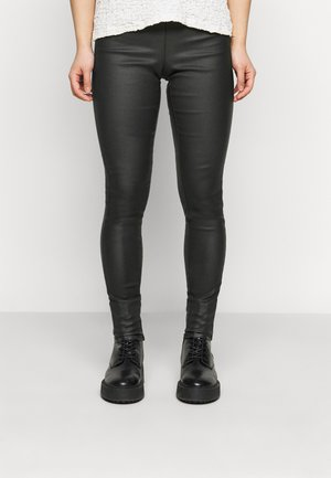 PCSKIN PARO COATED - Leggings - Trousers - black