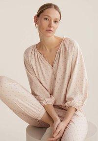 OYSHO - FLORAL  - Pyjama top - rose - 4