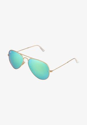 AVIATOR - Gafas de sol - goldfarben/grün