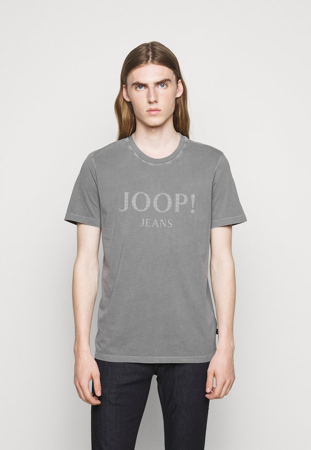 AMBROS  - Print T-shirt - silver